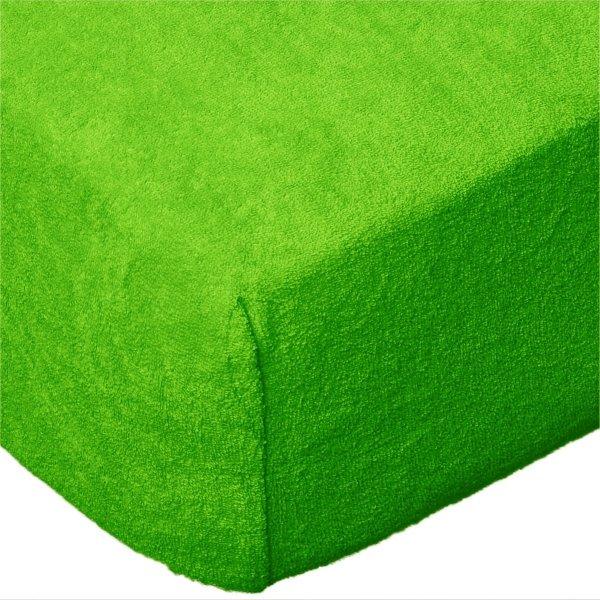 Grube Prześcieradło FROTTE 180x200 na gumkę wz. K21 zielony
