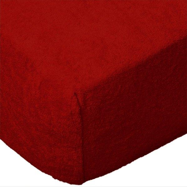 Grube Prześcieradło FROTTE 180x200 na gumkę wz. 029 czerwony