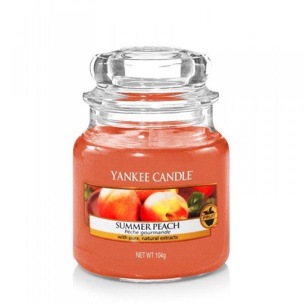 Świeca Yankee Candle Summer Peach - mały słoik