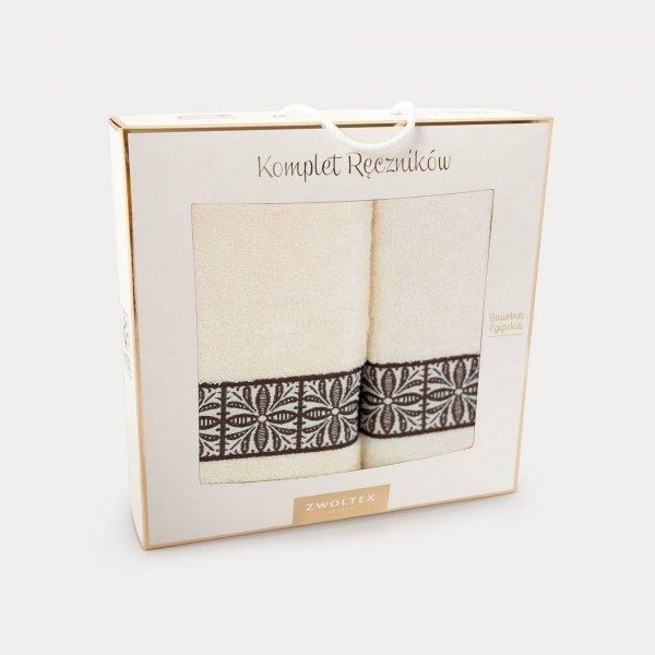 Komplet ręczników kolor Ecru - k1