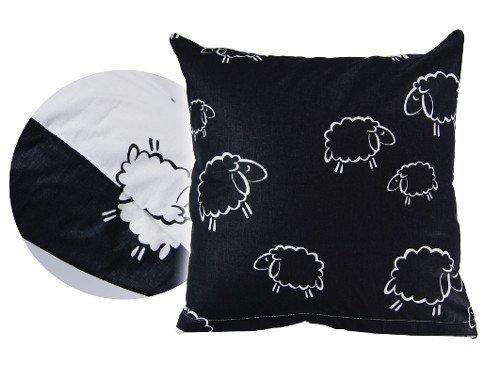 Poszewka na poduszkę BARANKI 50x60 - 100% bawełna, wz. czarno-białe