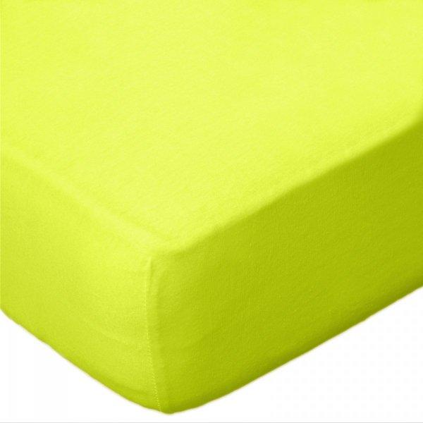 Prześcieradło JERSEY 60x120 na gumkę wz. D034 (limonkowy)