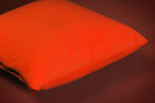 POSZEWKI POLAROWE na JAŚKI 50x60 ,przytulny polar wz. ciemny pomarańczowy
