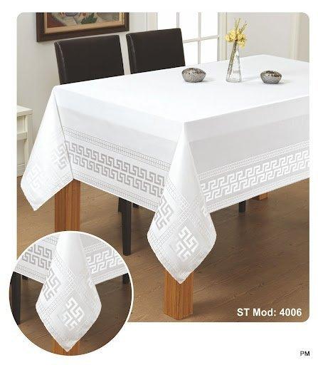 Obrus teflonowy rozmiar 140x350 wzór biały (190)