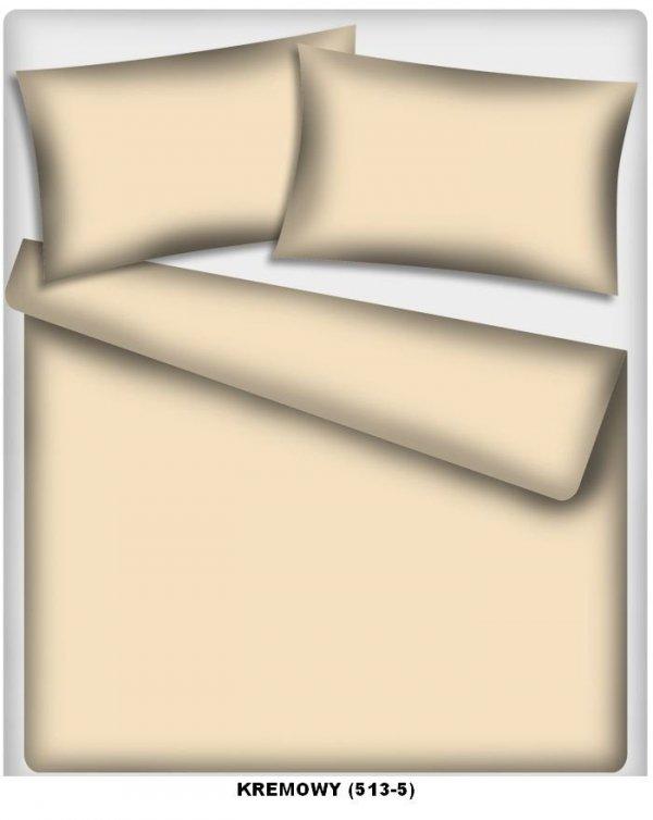 Pościel kolorowa jednolita na zakład , pościel   160x200, 100% bawełna ITAKA wz. kremowy