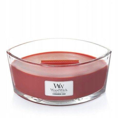 Świeca zapachowa WoodWick HearthWick - Cinnamon Chai