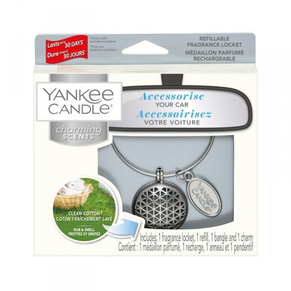 Zestaw z uzupełniaczem Yankee Candle Charming Scents Geometric - Clean Cotton
