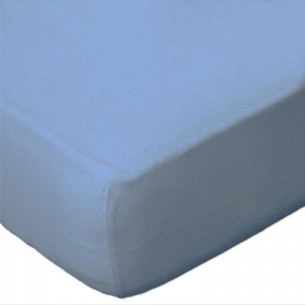 Prześcieradło Jersey 60x120 na gumkę wz. D009 (niebieski)