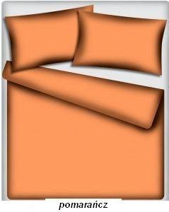 Prześcieradło kolorowe jednolite , prześcieradło   160x200 bez gumki, 100% bawełna ITAKA wz. pomarańcz