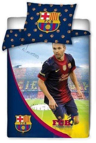Pościel licencyjna 100% bawełna 160x200 - FC Barcelona - Iniesta 02
