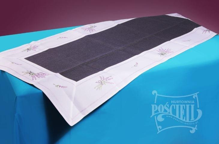 Ozdobny obrus rozmiar 50x170cm Lawenda Kolor: biało-czarny