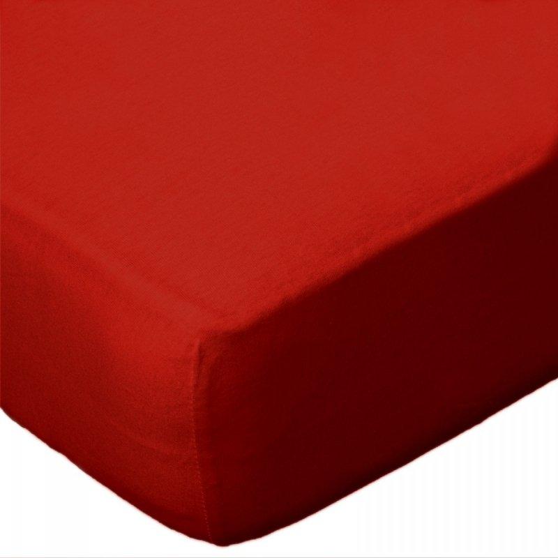 Prześcieradło jersey 140x200 z gumkę wz.D029 ( czerwony)