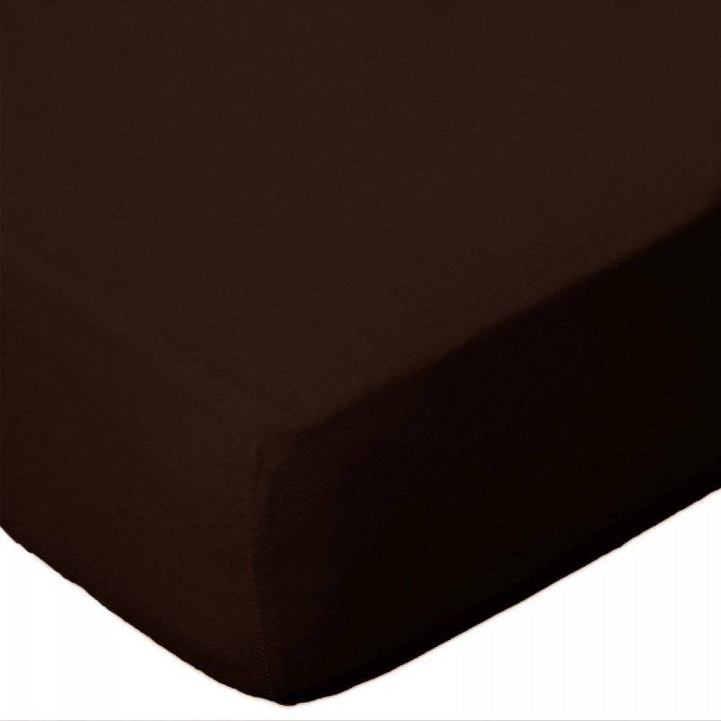 Prześcieradło jersey 220x200 z gumką wz. D030 (czekoladowy 2)