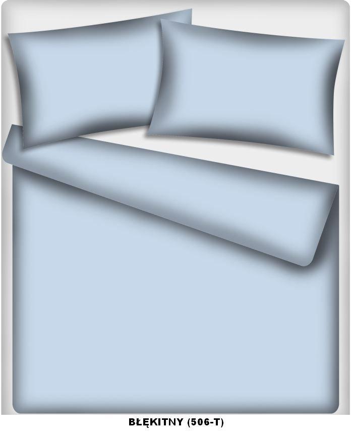 Poszewka kolorowa jednolita , poszwa 50x60, 100% bawełna ITAKA zapięcie na zamek wz. błękitny