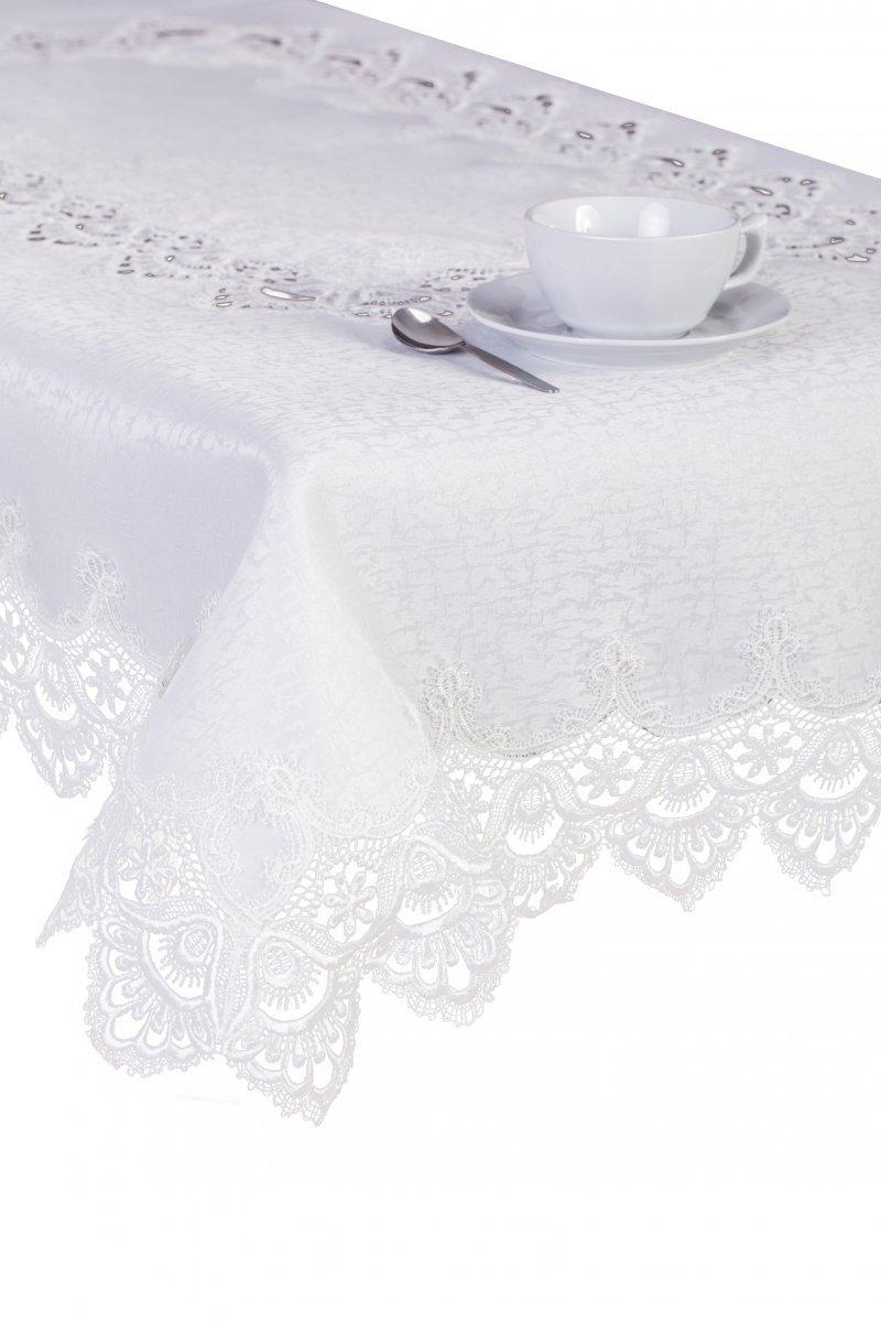 Obrus Gipiura 8139E rozmiar: 60x60 Kwadrat kolor: Biały