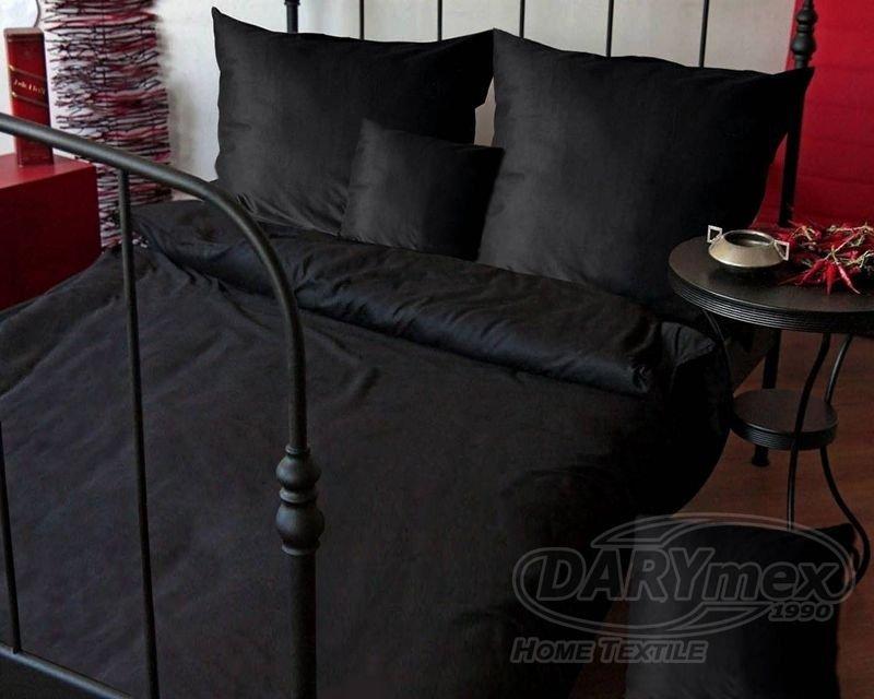 Poszewki na poduszki 40x40 satyna DARYMEX wz. czarny