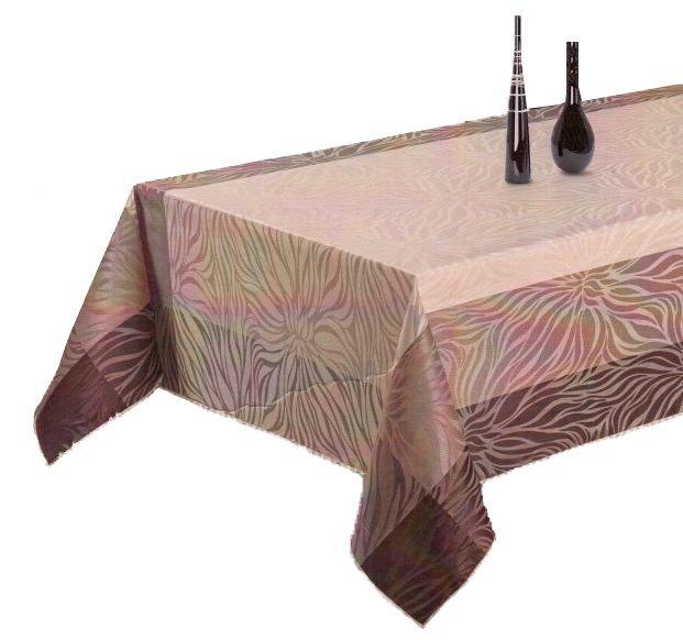 Obrus teflonowy rozmiar 140x260 wzór beż/czekolada (240)