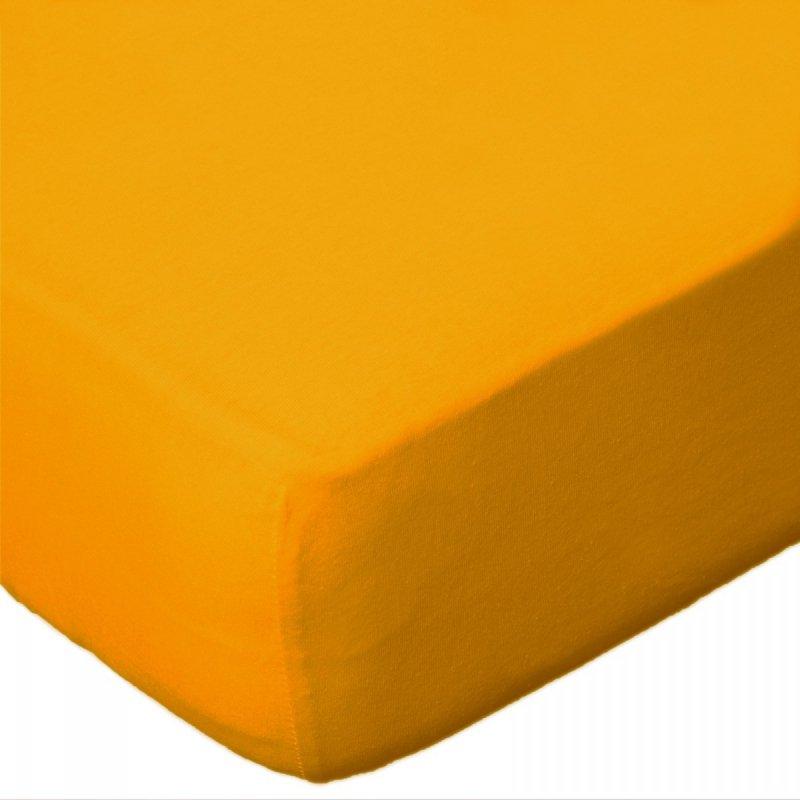 Prześcieradło JERSEY 70x140 na gumkę wz. D004 (żółty)