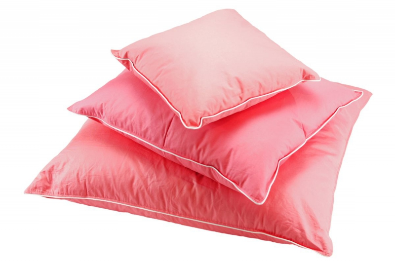 Poduszka półpuchowa 40x40 wz. różowy