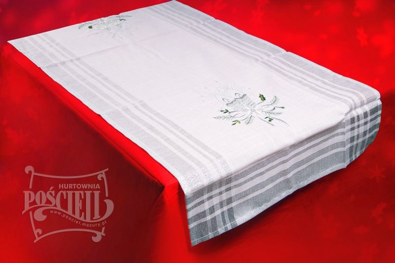 Obrus świąteczny rozmiar 50x110 wzór BN173s