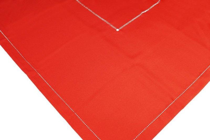 Obrus z mereżką rozmiar 150x300 wzór Czerwony (200)