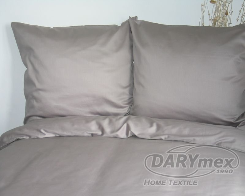 Poszewka na poduszkę 40x40 - 100% bawełna satynowa DARYMEX, zapięcie na zamek wz. popiel