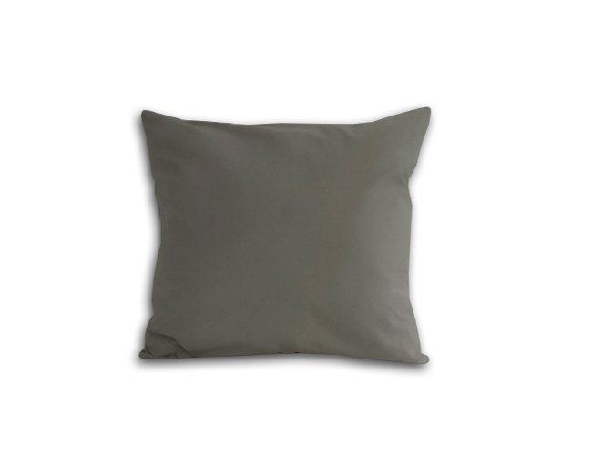 Poszewka na poduszkę 40x40 - 100% bawełna satynowa DARYMEX, zapięcie na zamek wz. jasny szary