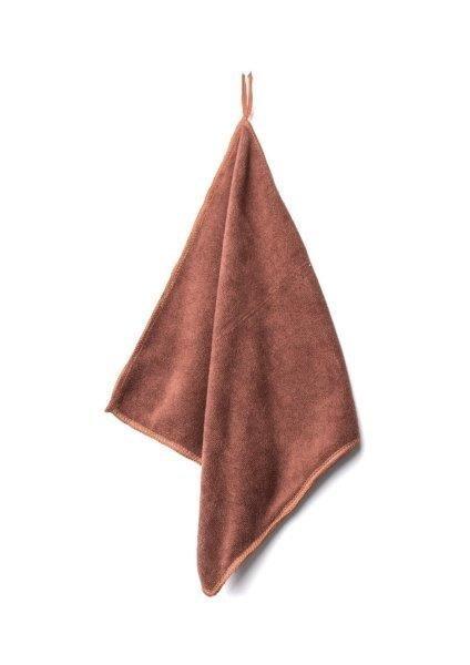 Ręcznik szybkoschnący 30x30 mikrofibra brązowy