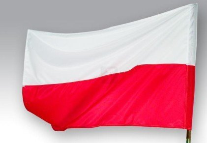 Flaga Polski rozm. 85x52 - POLSKA