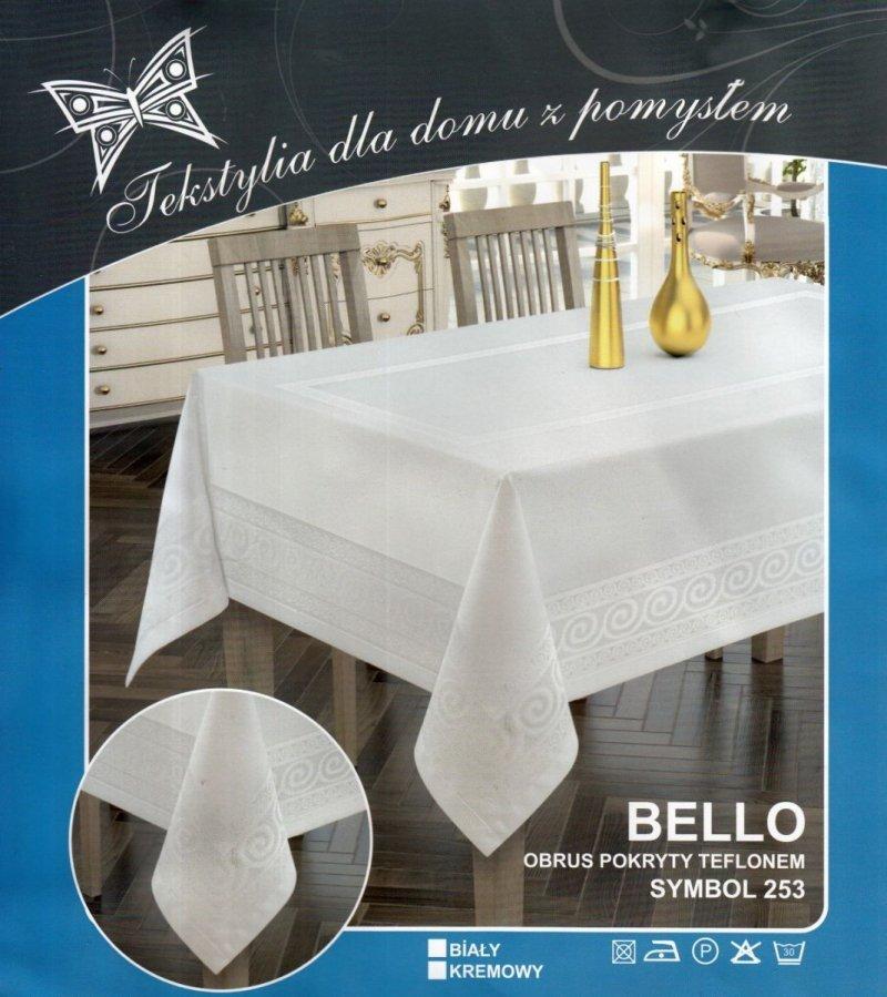 Obrus teflonowy bello rozmiar 110x160 wzór kremowy (253)