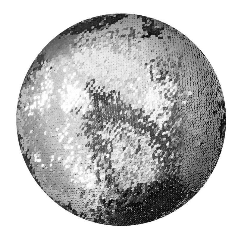 Poduszka ozdobna okrągła w cekiny Moose 30cm - wz. C60O