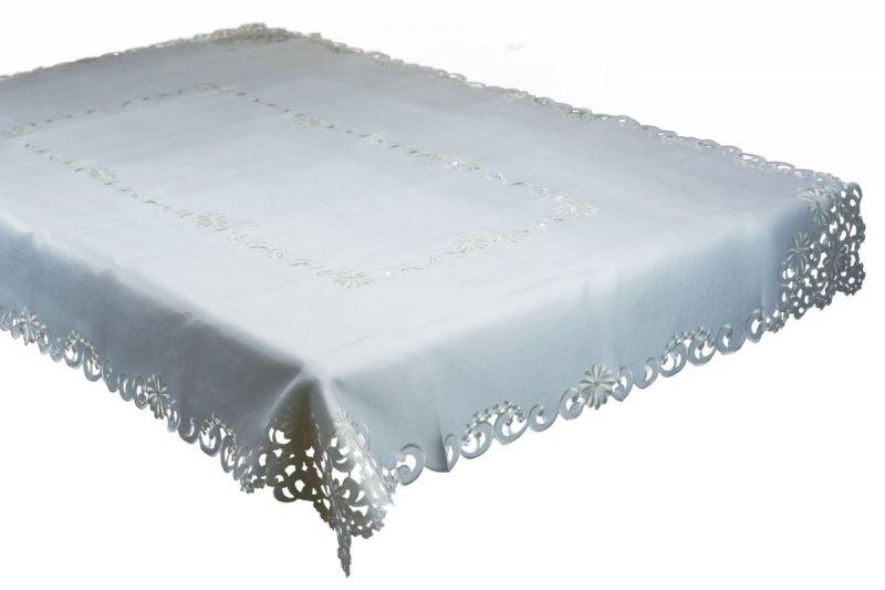Obrus haftowany rozmiar 150x220 wzór ecru (213)