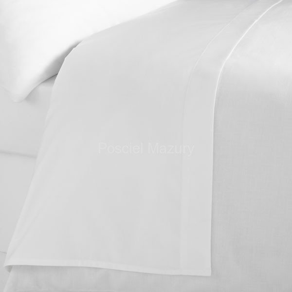 Prześcieradło białe hotelowe, hotel 160x250, 100% bawełna