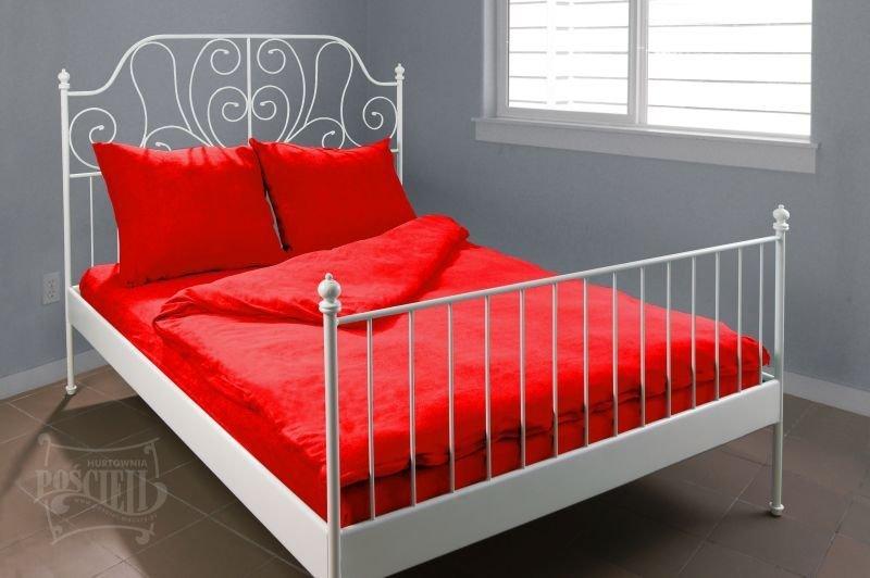 Pościel Frotte wz. 16 czerwony rozmiar 160x200