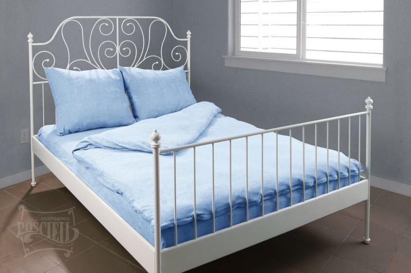 Pościel Frotte wz. 05 jasny niebieski rozmiar 160x200