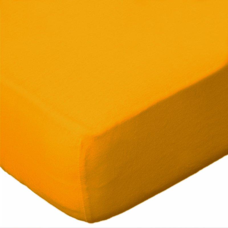 Prześcieradło jersey 90x200 z gumką wz. D004 (żółty)
