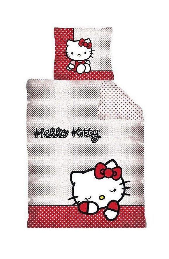 Pościel licencyjna Disney 100% bawełna 160x200 lub 140x200 - Hello Kitty wz. LD143