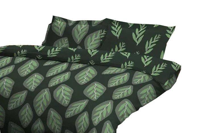 Poszewka na poduszkę 70x80, 50x60, 40x40 lub inny rozmiar - 100% bawełna jersey wz. Herbal Green