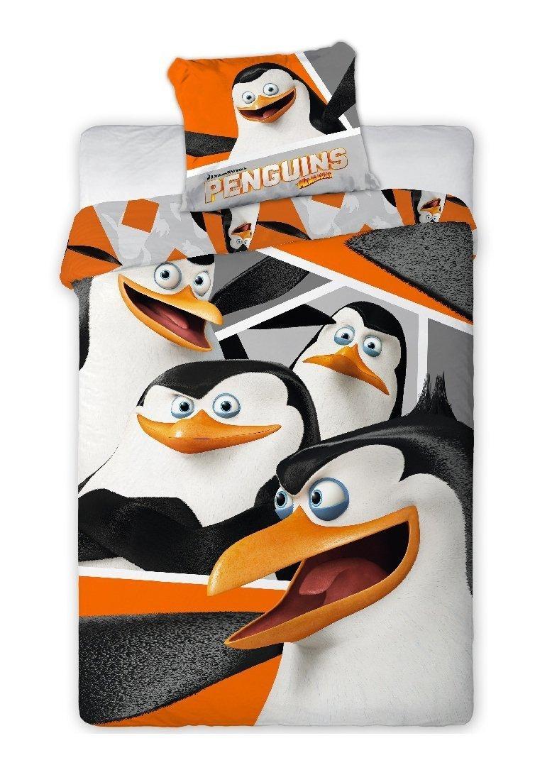 Pościel licencyjna 100% bawełna 160x200 lub 140x200 - Pingwiny z Madagascaru