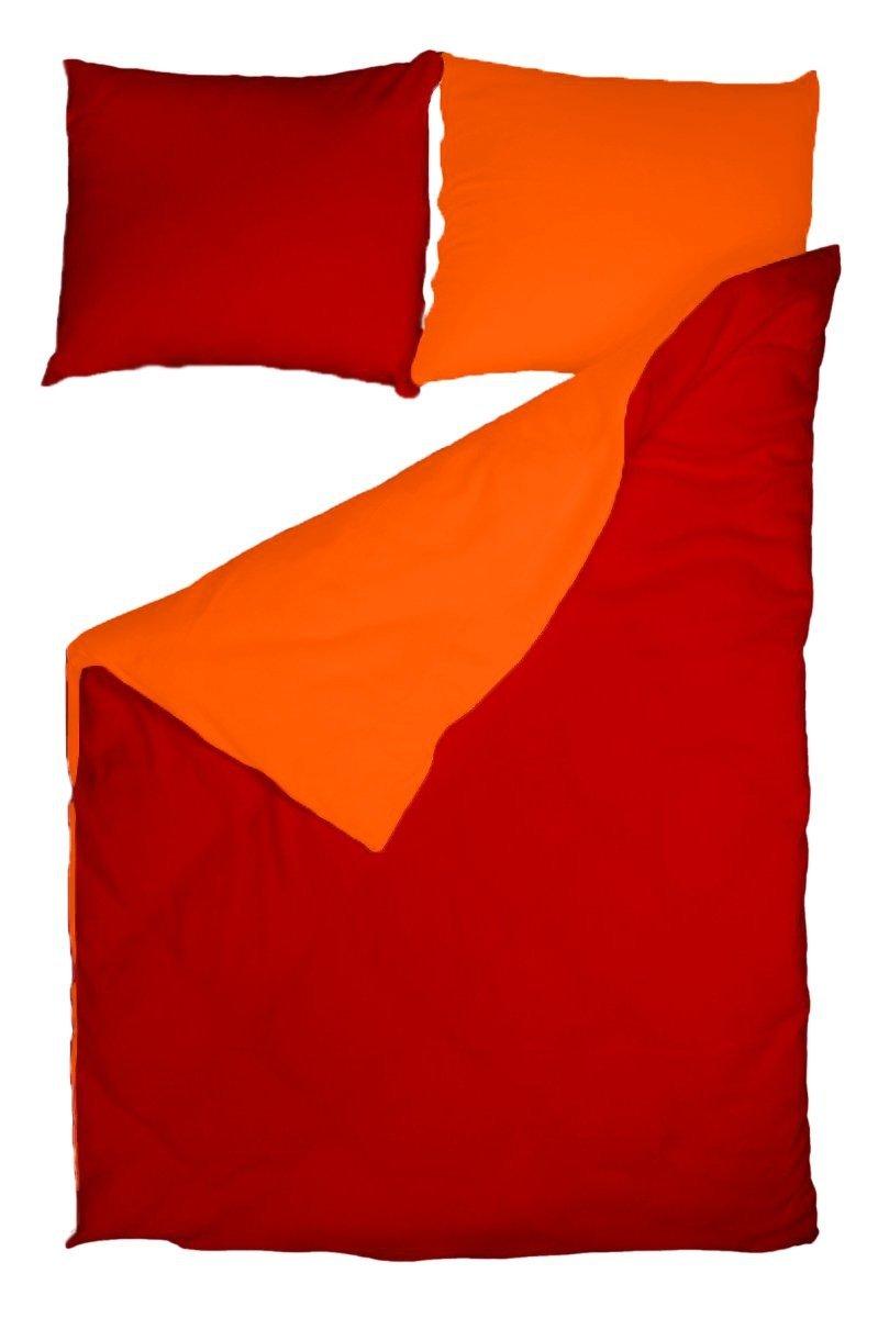 Pościel POLAROWA 160x200 POLAR ACTIVE wz. 99 pomarańcz-czerwony