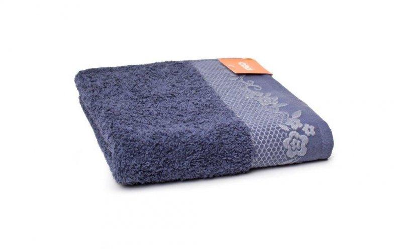 Ręcznik BJORK- rozmiar 50x90 wz. Niebieski /Atramentowy/