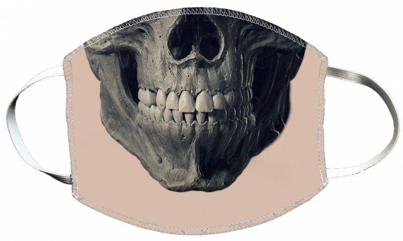 Maska z nadrukiem 2-warstwowa wielorazowa 60°C wz. 9 CZASZKA