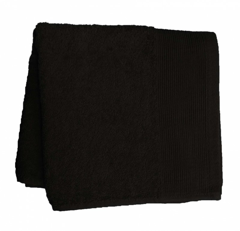 Ręcznik jednobarwny AQUA rozmiar 70x140 wz. czarny