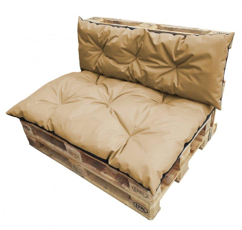 Duży komplet poduszek ogrodowych na palety wz. Beż