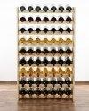 Weinregal für 63 Flaschen RW-3-63 (72x26,5x118), Unbehandelt, Erlen, Braun