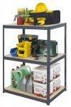 Metallregal Werkstatt Schwerlastregal Helios 090x120x35_3 Böden, Tragkraft bis 400 Kg pro Boden,  Viele Farben zur Auswahl
