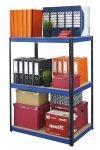 Metallregal Werkstatt Schwerlastregal Helios 106x045x45_3 Böden, Tragkraft bis 175 Kg pro Boden,  Viele Farben zur Auswahl, Quadratisch