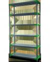 Plastikregal Kunststoffregal Steckregal  Jupiter-5-70 (180x70x46), 5 Böden, 3 Farben