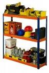Metallregal Werkstatt Schwerlastregal Helios 090x075x45_3 Böden, Tragkraft bis 400 Kg pro Boden,  Viele Farben zur Auswahl