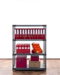Plastikregal Kunststoffregal Steckregal  Tytan-4-110 (138x110x46),4 Böden, 3 Farben